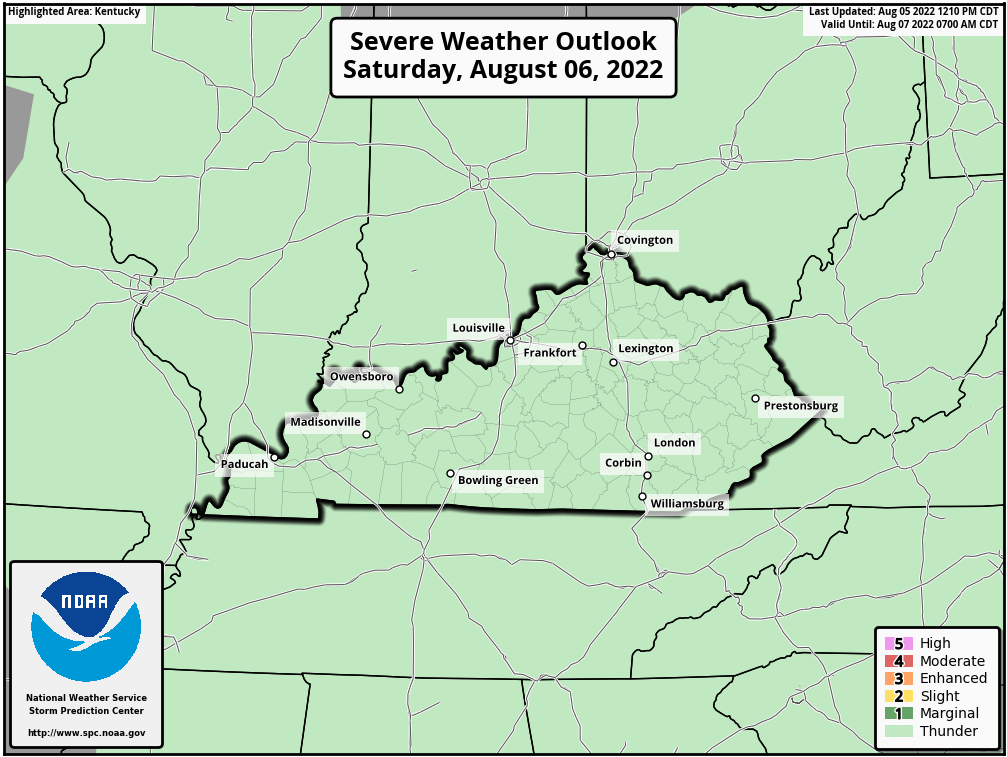 SPC Day 2 Outlook For Kentucky